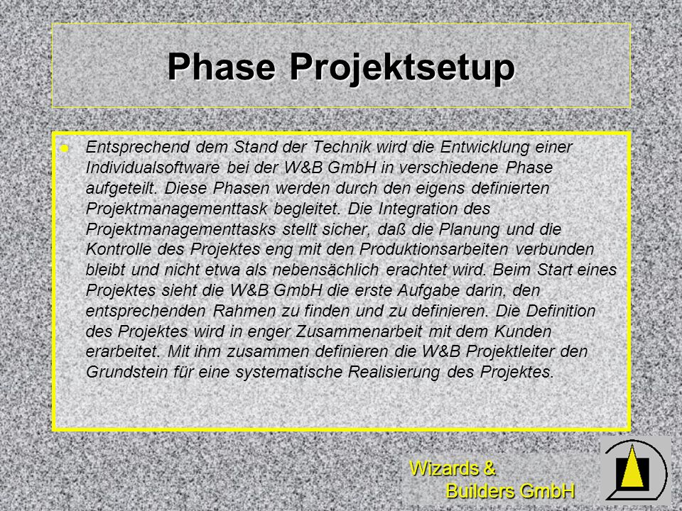 Phase Projektsetup