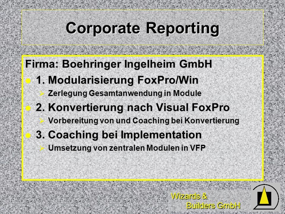 Corporate Reporting Firma: Boehringer Ingelheim GmbH