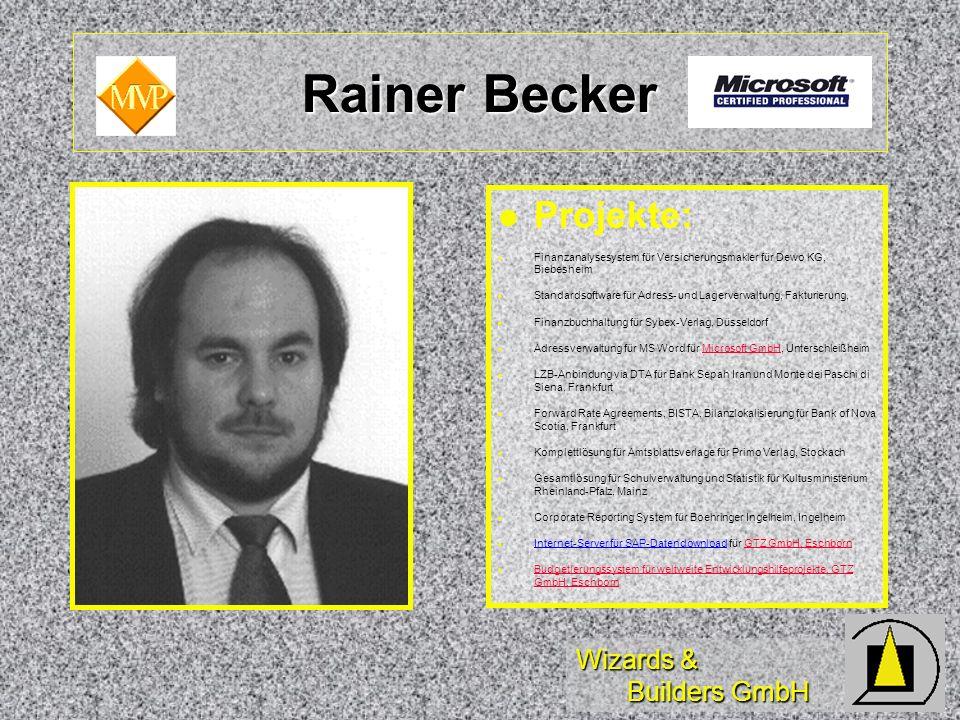 Rainer Becker Projekte: