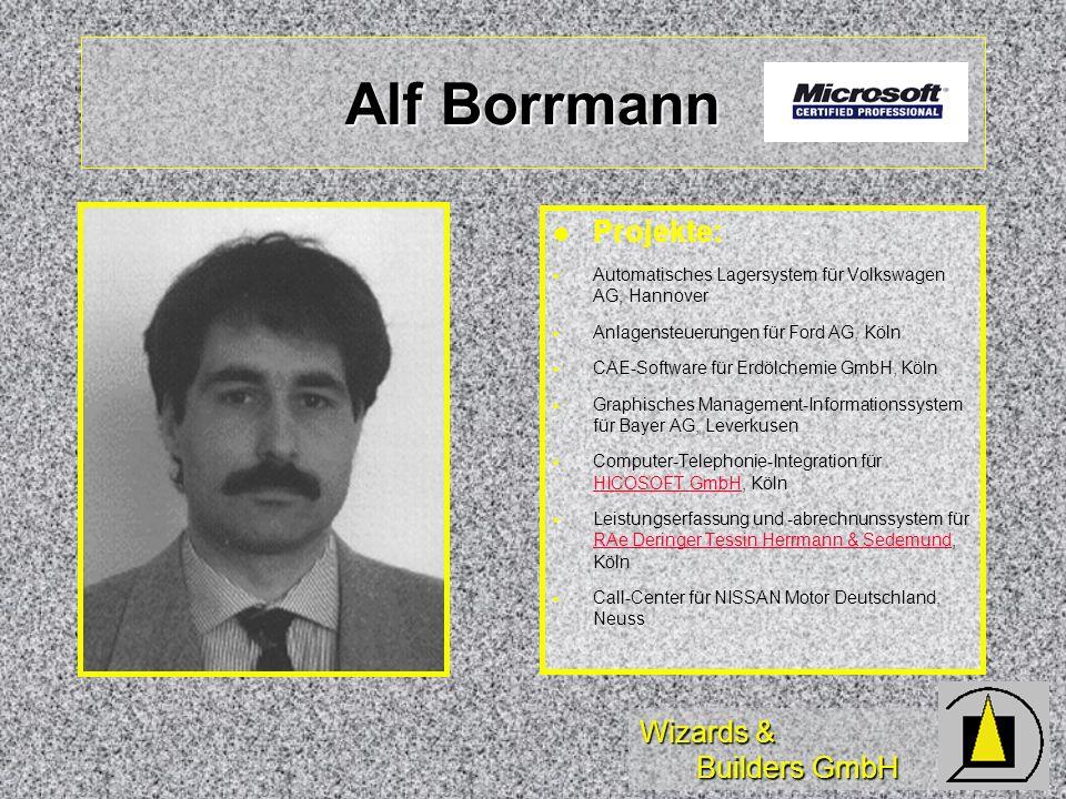 Alf Borrmann Projekte: