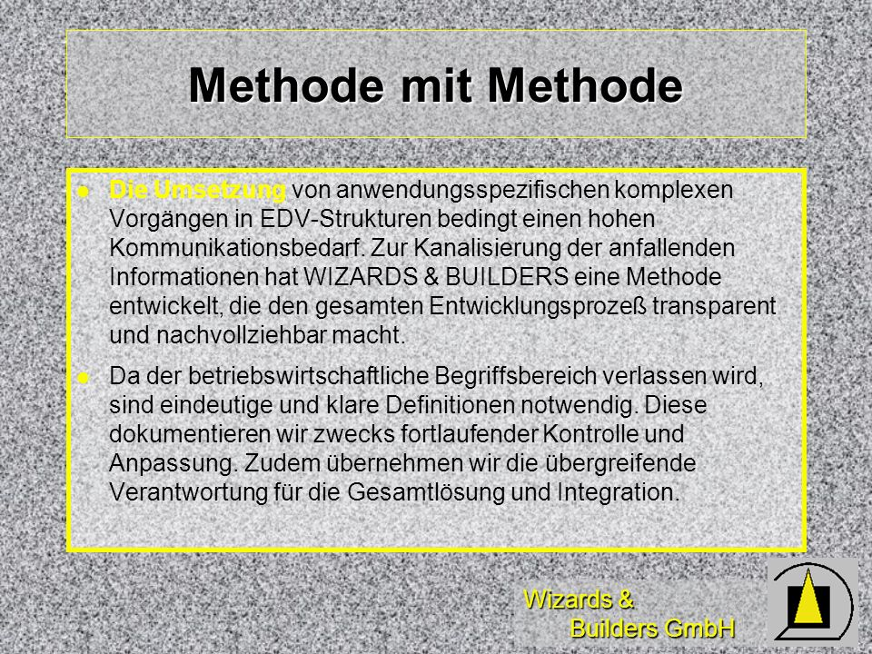 Methode mit Methode