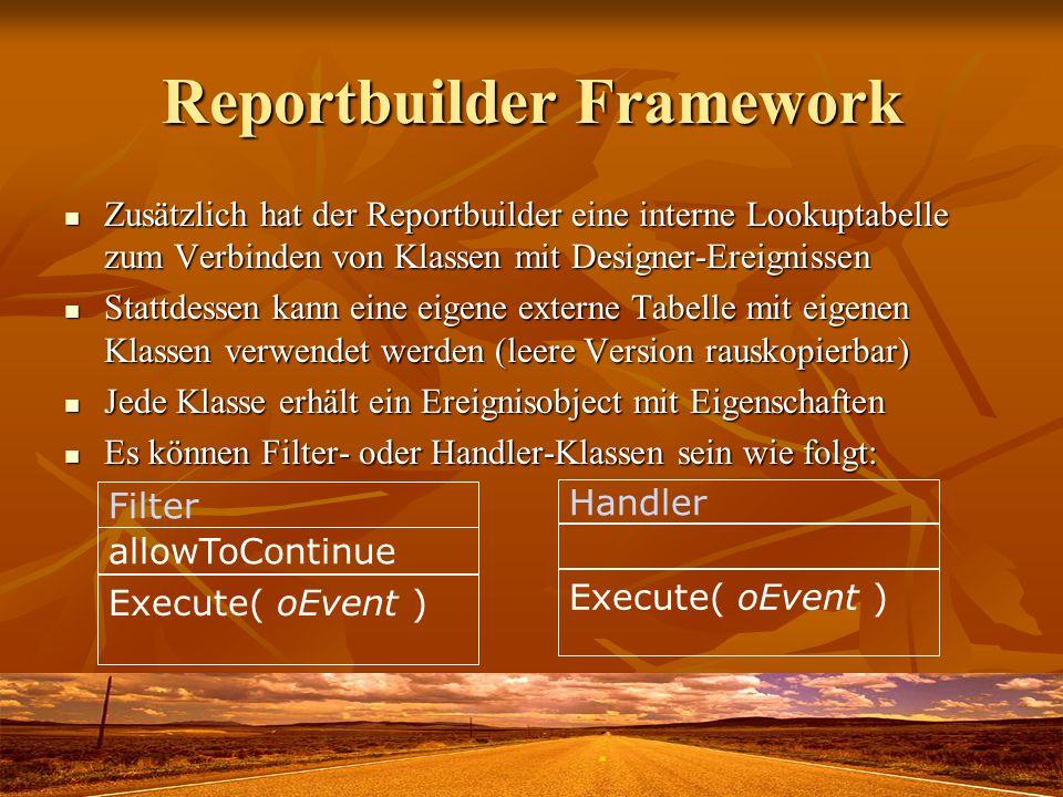 Reportbuilder Framework