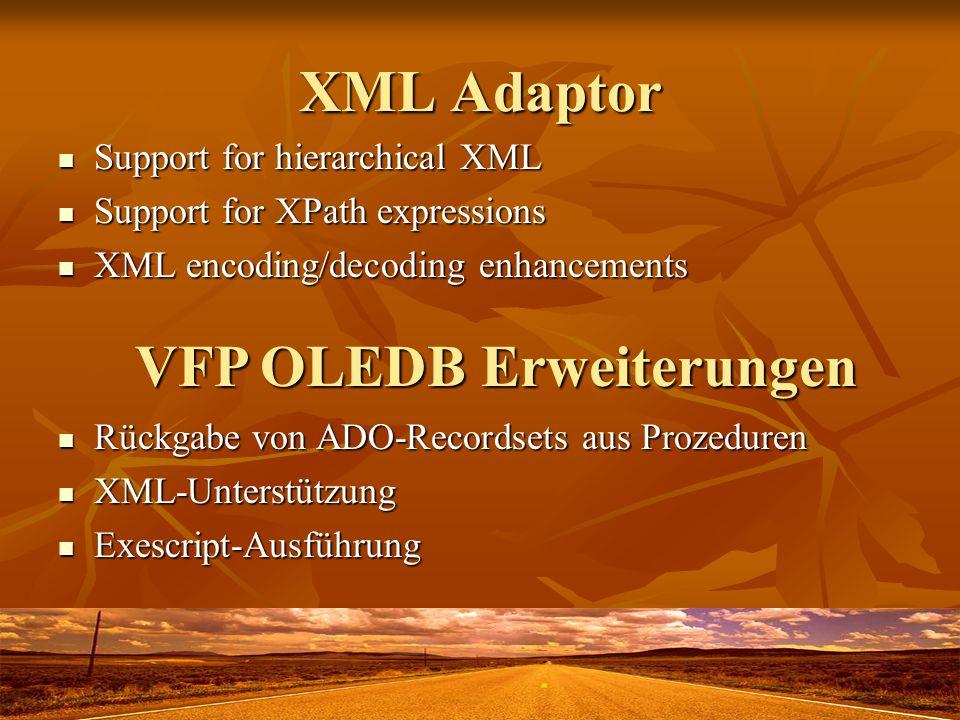 VFP OLEDB Erweiterungen