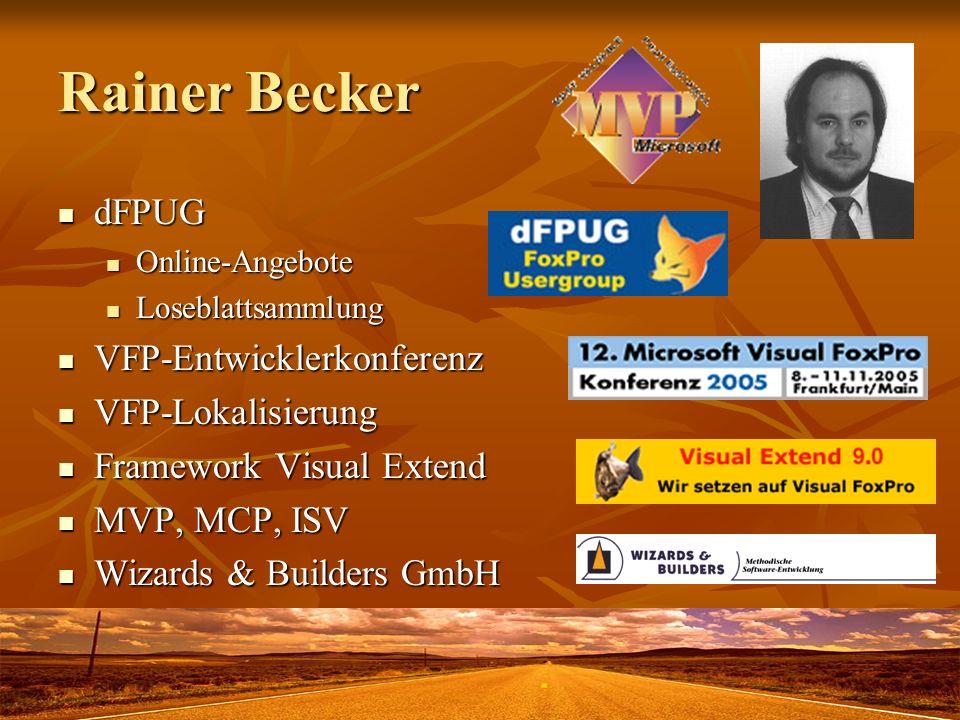 Rainer Becker dFPUG VFP-Entwicklerkonferenz VFP-Lokalisierung