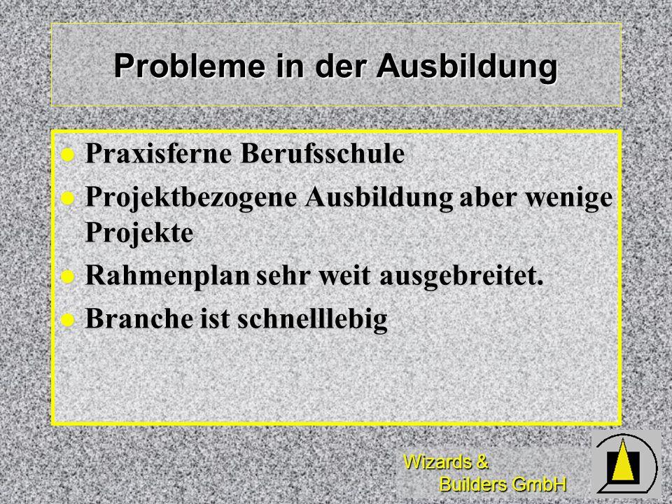 Probleme in der Ausbildung