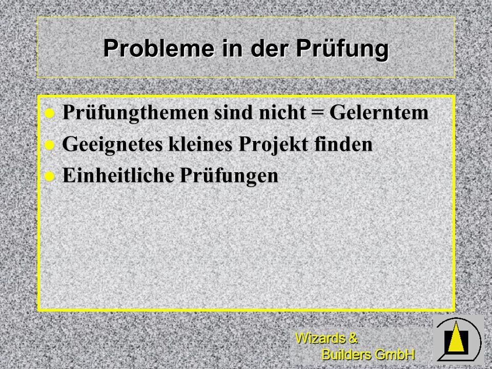 Probleme in der Prüfung