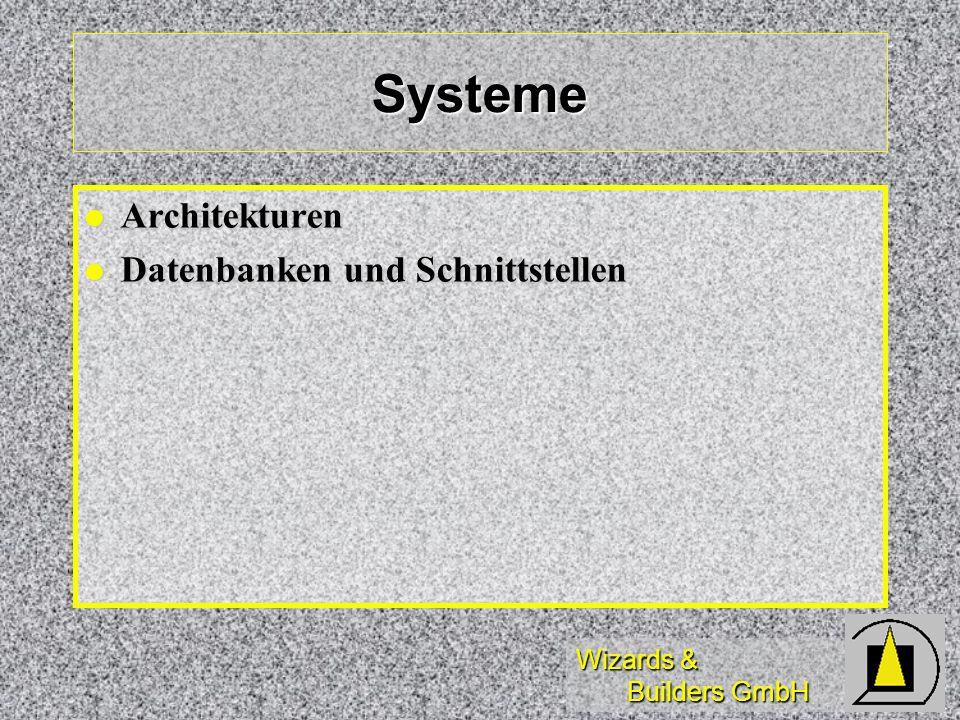 Systeme Architekturen Datenbanken und Schnittstellen
