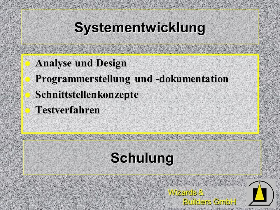 Systementwicklung Schulung