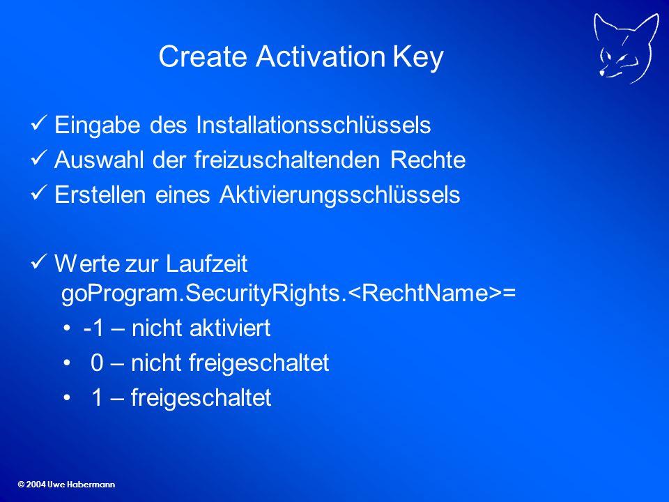 Create Activation Key Eingabe des Installationsschlüssels