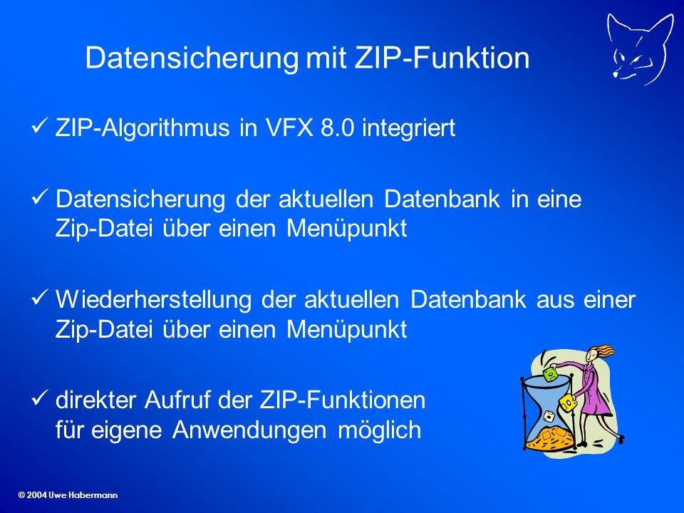 Datensicherung mit ZIP-Funktion
