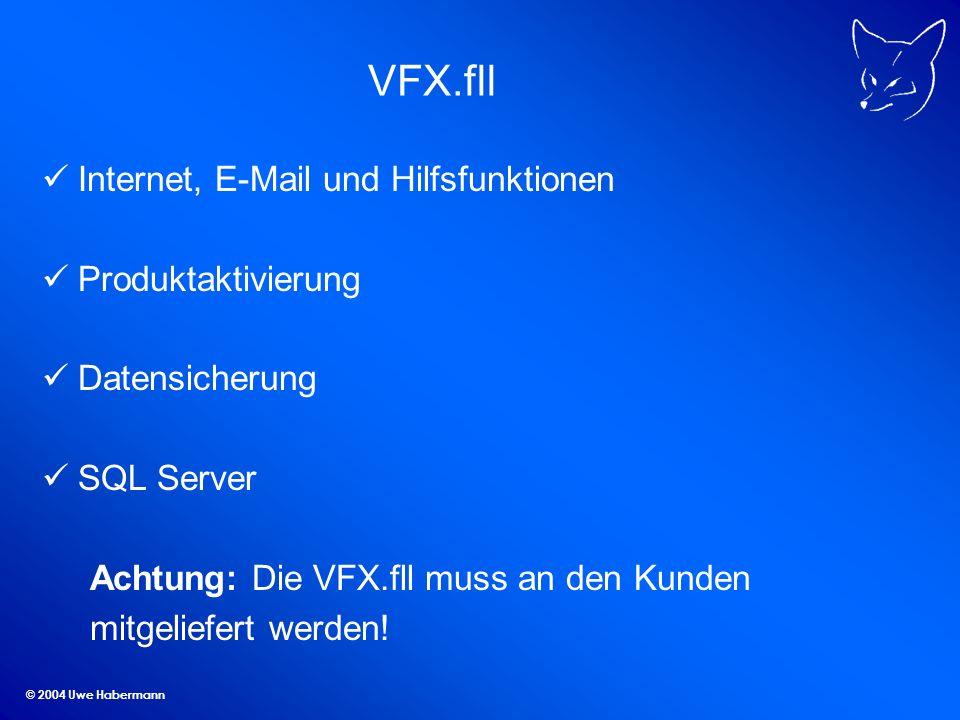 VFX.fll Internet, E-Mail und Hilfsfunktionen Produktaktivierung