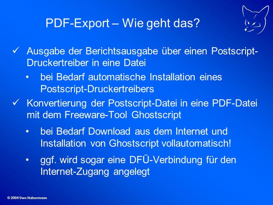 PDF-Export – Wie geht das