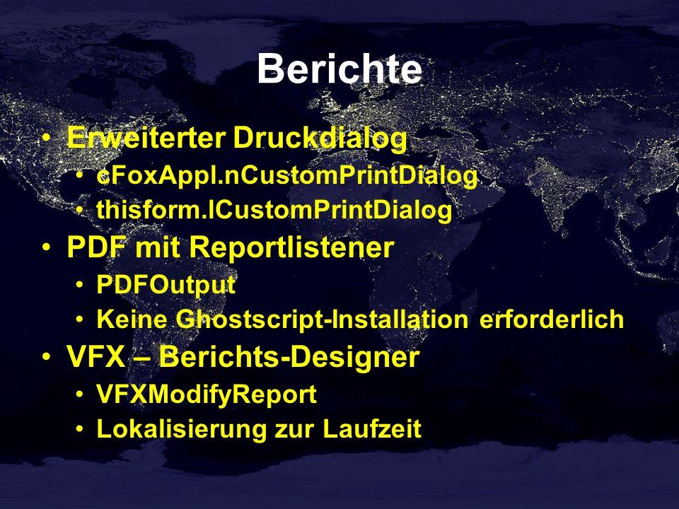 Berichte Erweiterter Druckdialog PDF mit Reportlistener