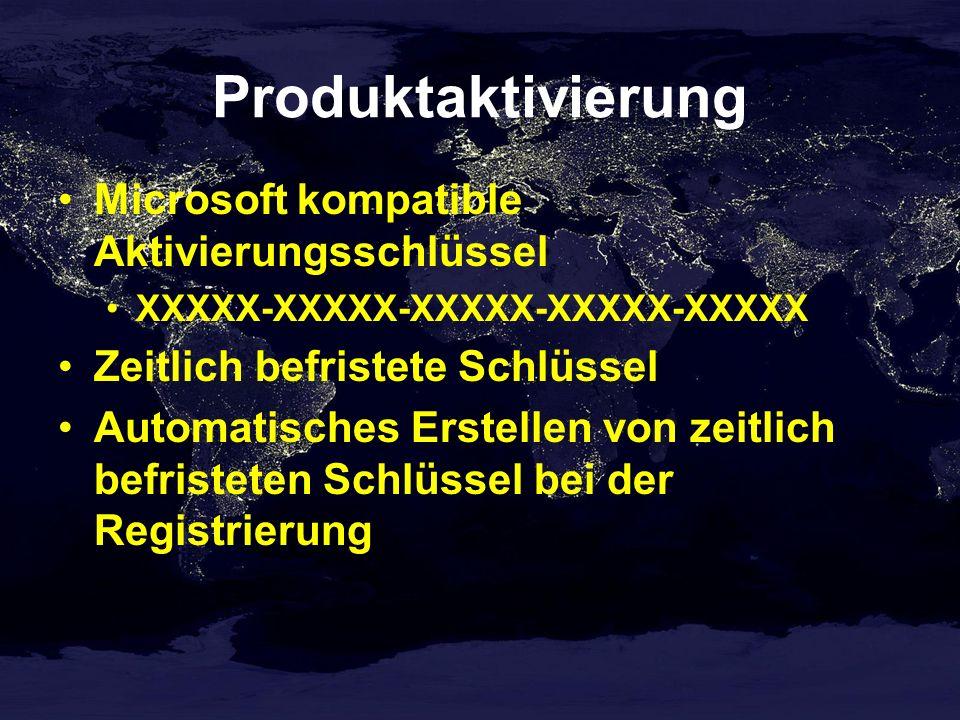 Produktaktivierung Microsoft kompatible Aktivierungsschlüssel