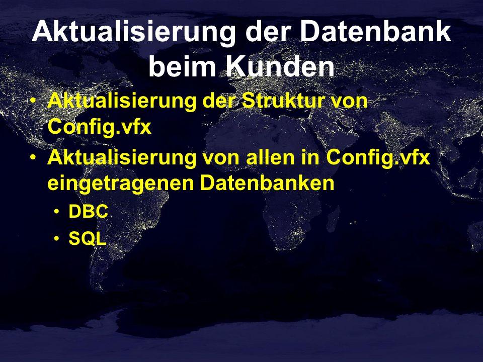 Aktualisierung der Datenbank beim Kunden
