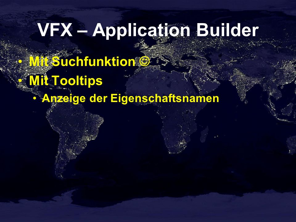 VFX – Application Builder