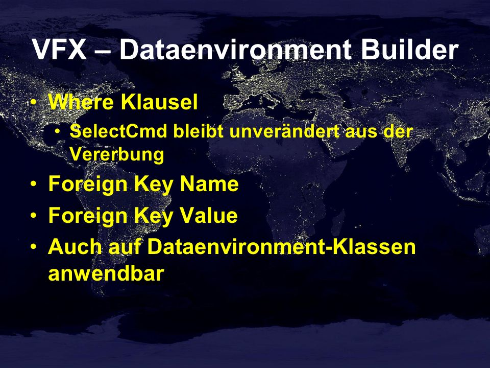 VFX – Dataenvironment Builder