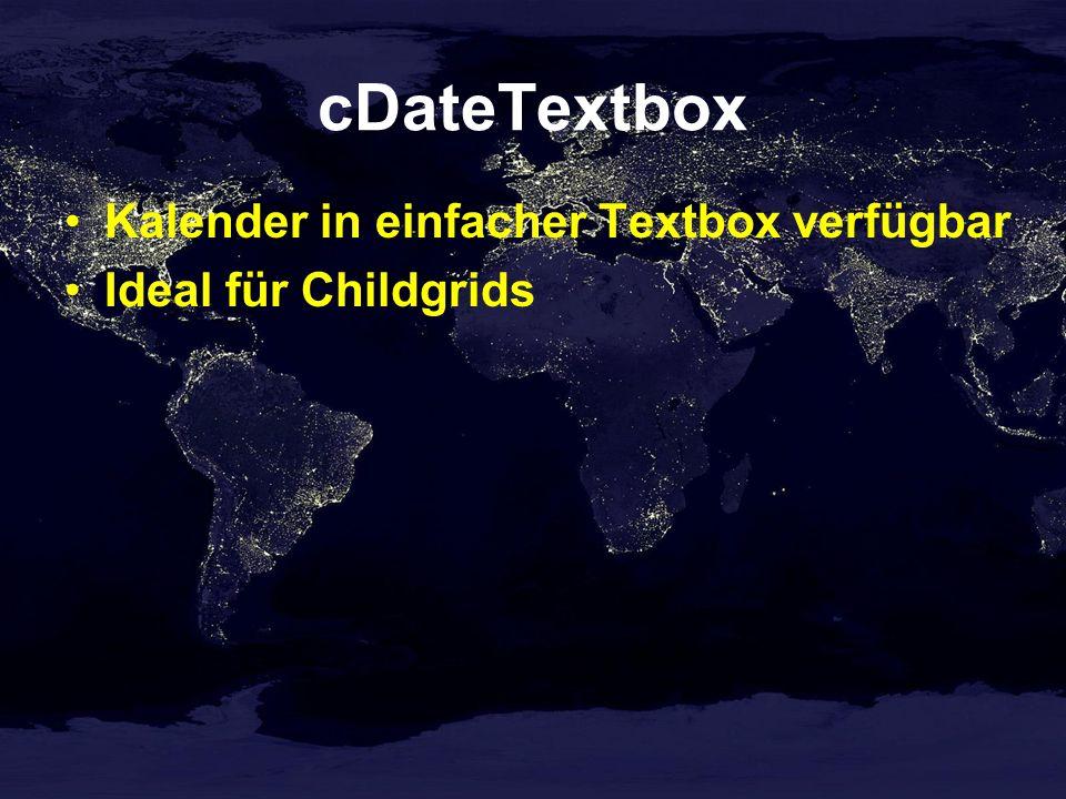 cDateTextbox Kalender in einfacher Textbox verfügbar