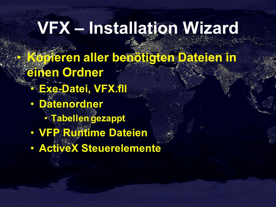 VFX – Installation Wizard