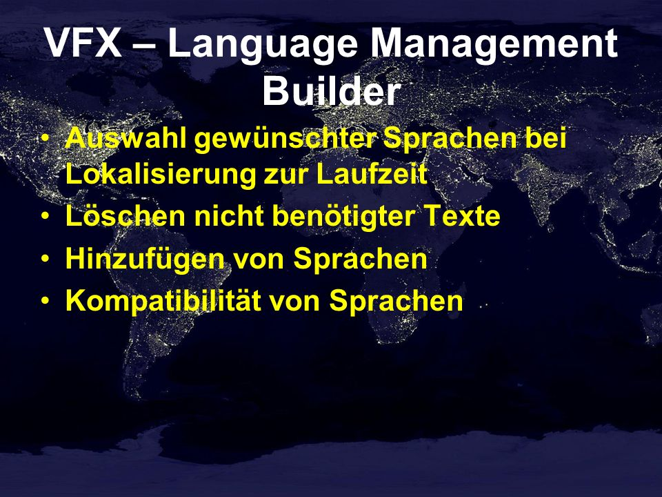 VFX – Language Management Builder