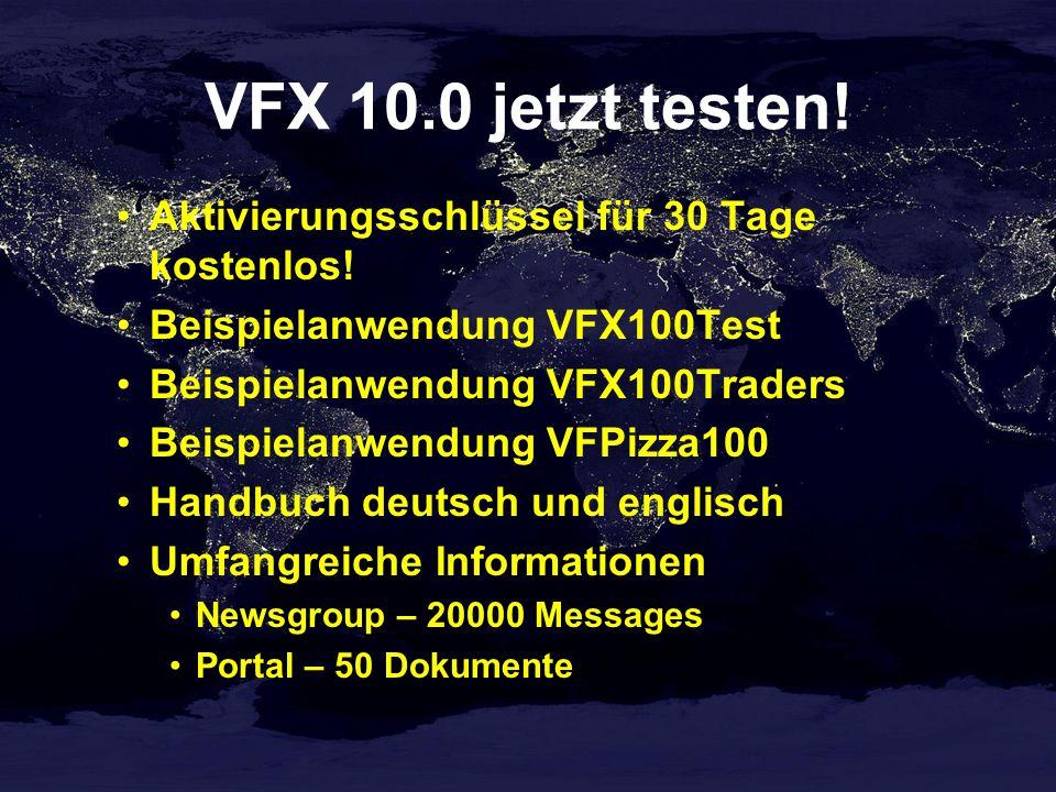 VFX 10.0 jetzt testen! Aktivierungsschlüssel für 30 Tage kostenlos!