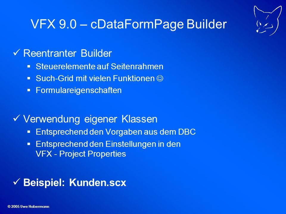 VFX 9.0 – cDataFormPage Builder