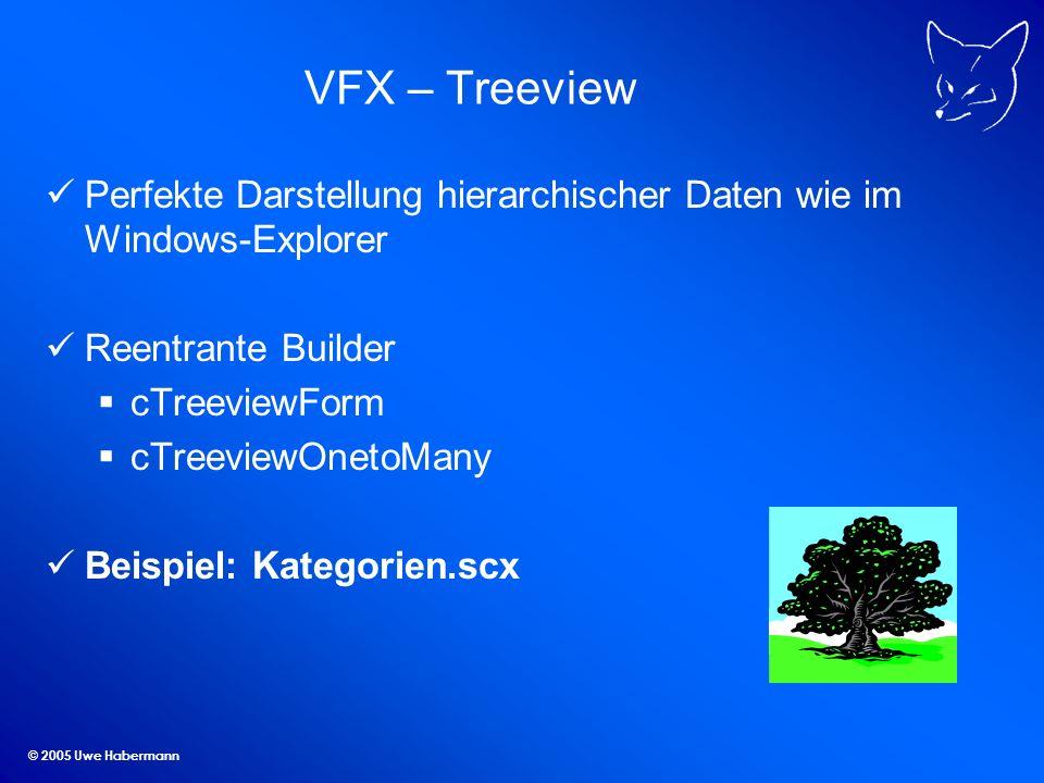 VFX – Treeview Perfekte Darstellung hierarchischer Daten wie im Windows-Explorer. Reentrante Builder.
