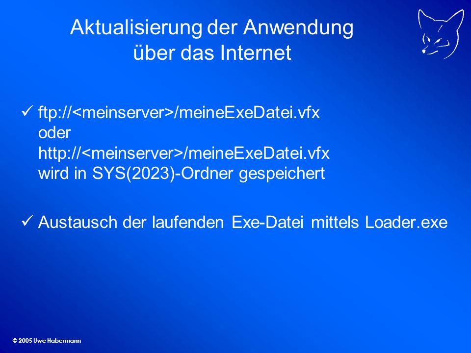 Aktualisierung der Anwendung über das Internet