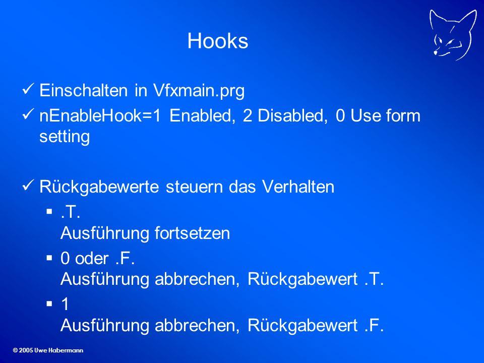 Hooks Einschalten in Vfxmain.prg