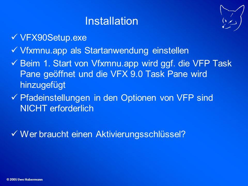 Installation VFX90Setup.exe Vfxmnu.app als Startanwendung einstellen