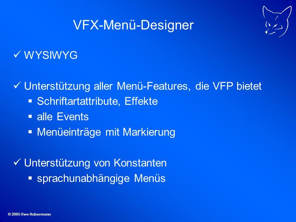 VFX-Menü-Designer WYSIWYG