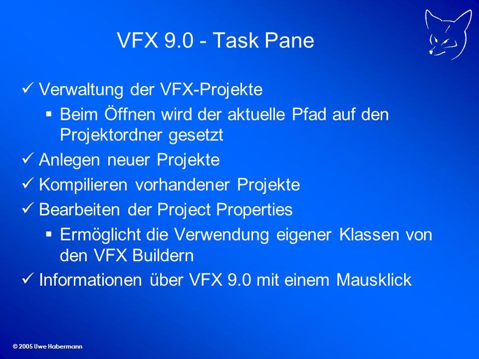 VFX 9.0 - Task Pane Verwaltung der VFX-Projekte