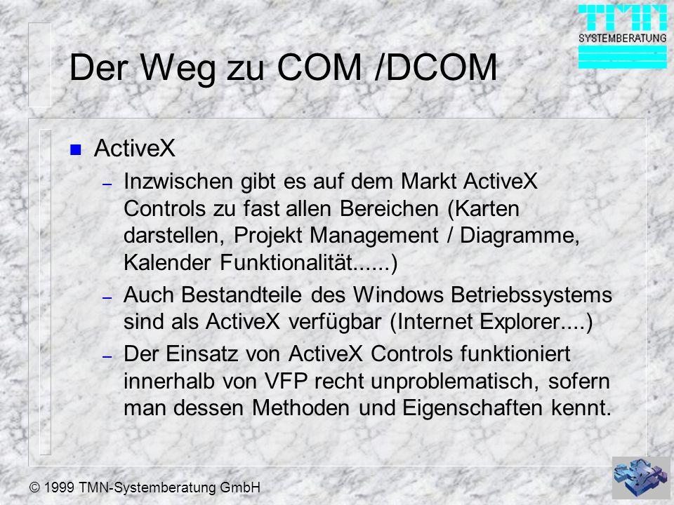 Der Weg zu COM /DCOM ActiveX