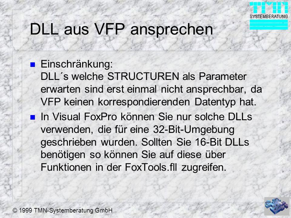 DLL aus VFP ansprechen