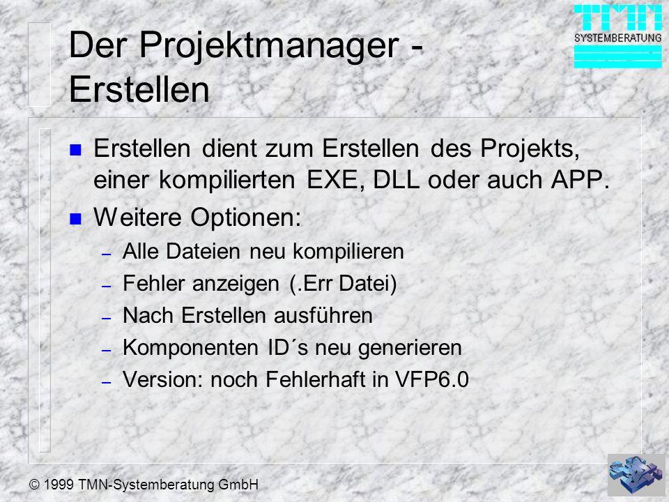 Der Projektmanager - Erstellen