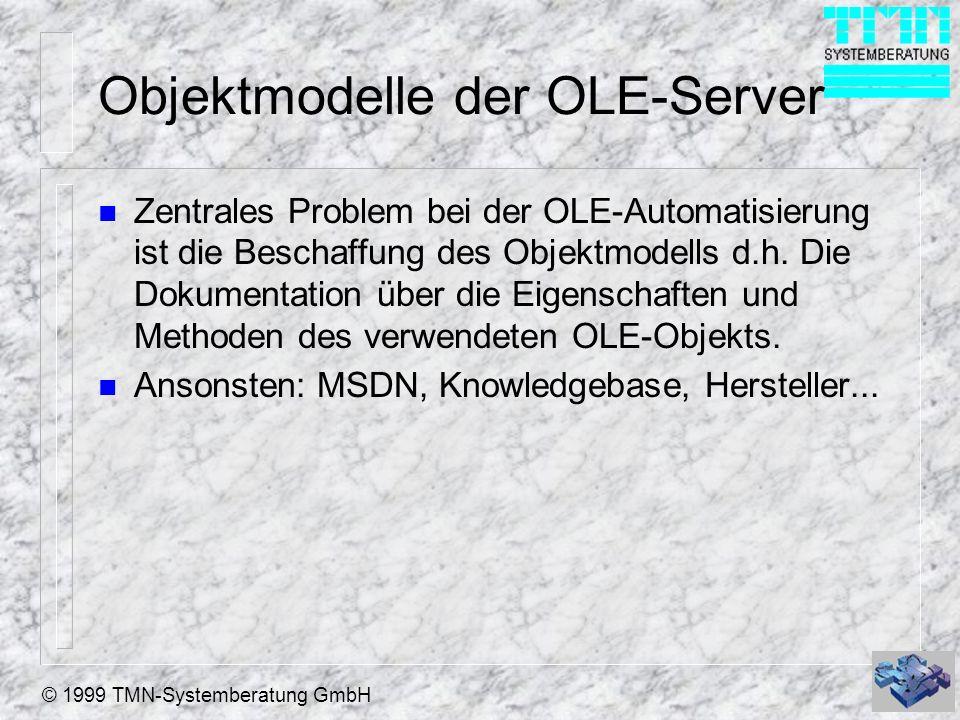 Objektmodelle der OLE-Server