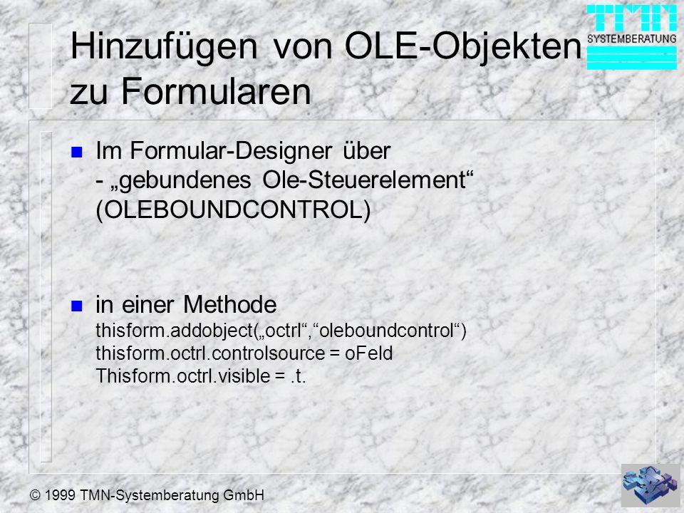 Hinzufügen von OLE-Objekten zu Formularen