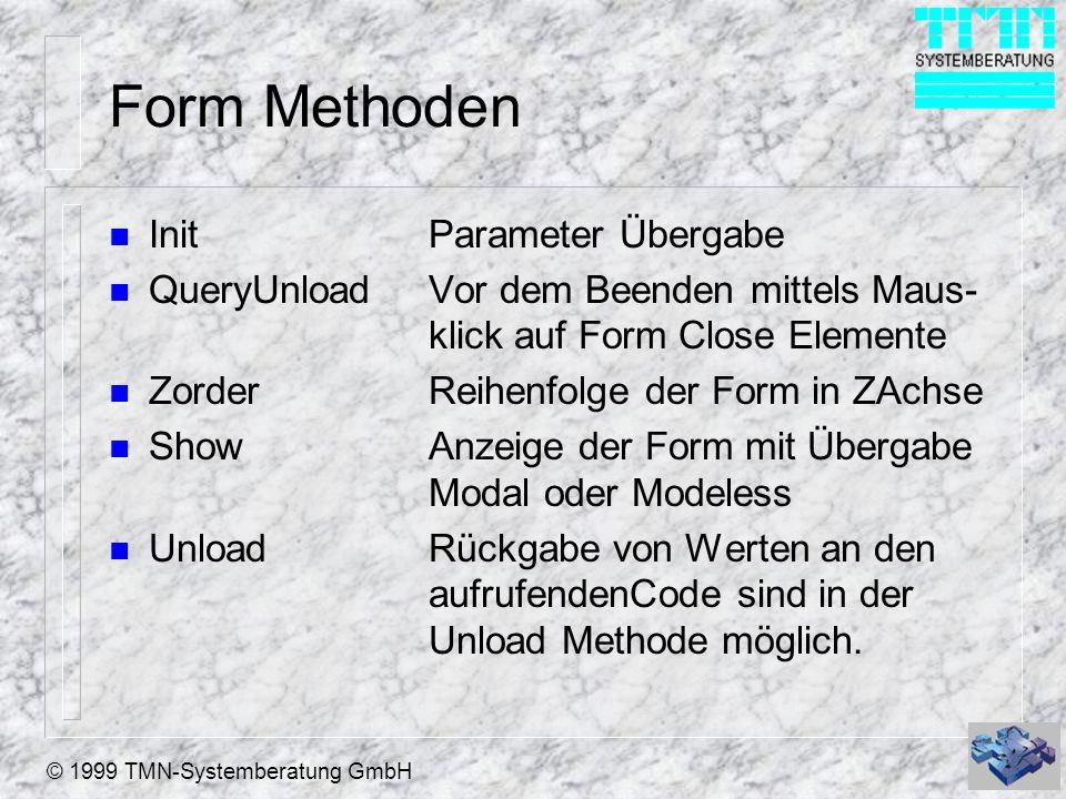 Form Methoden Init Parameter Übergabe