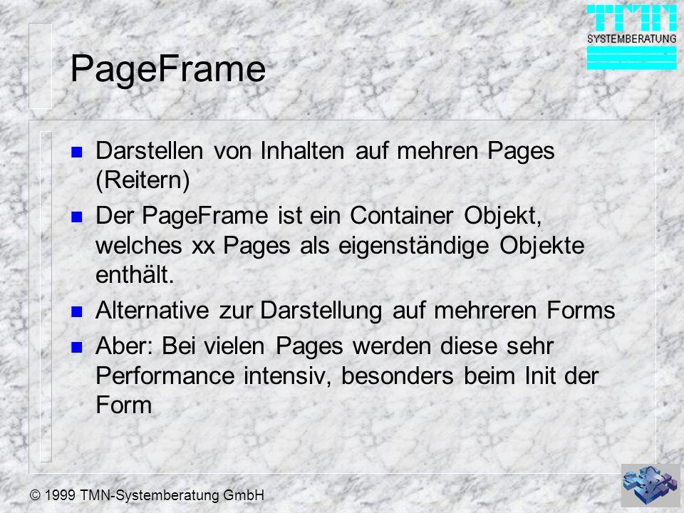 PageFrame Darstellen von Inhalten auf mehren Pages (Reitern)