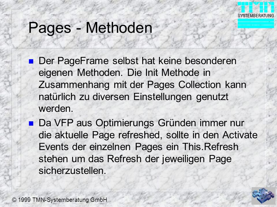 Pages - Methoden
