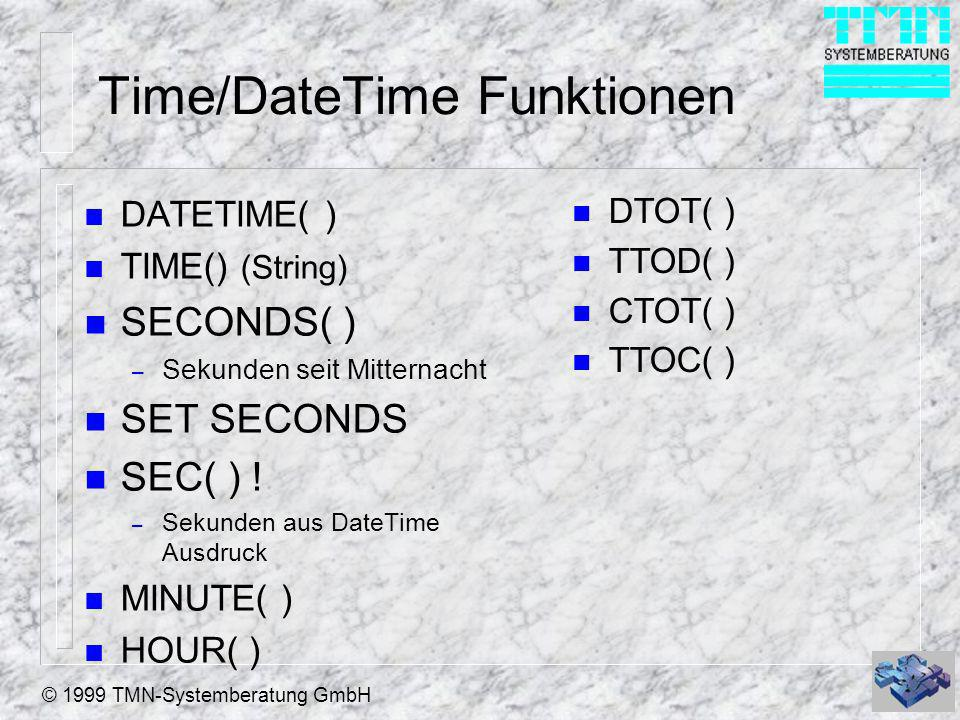 Time/DateTime Funktionen