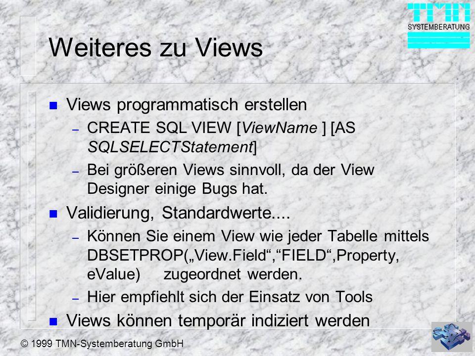 Weiteres zu Views Views programmatisch erstellen