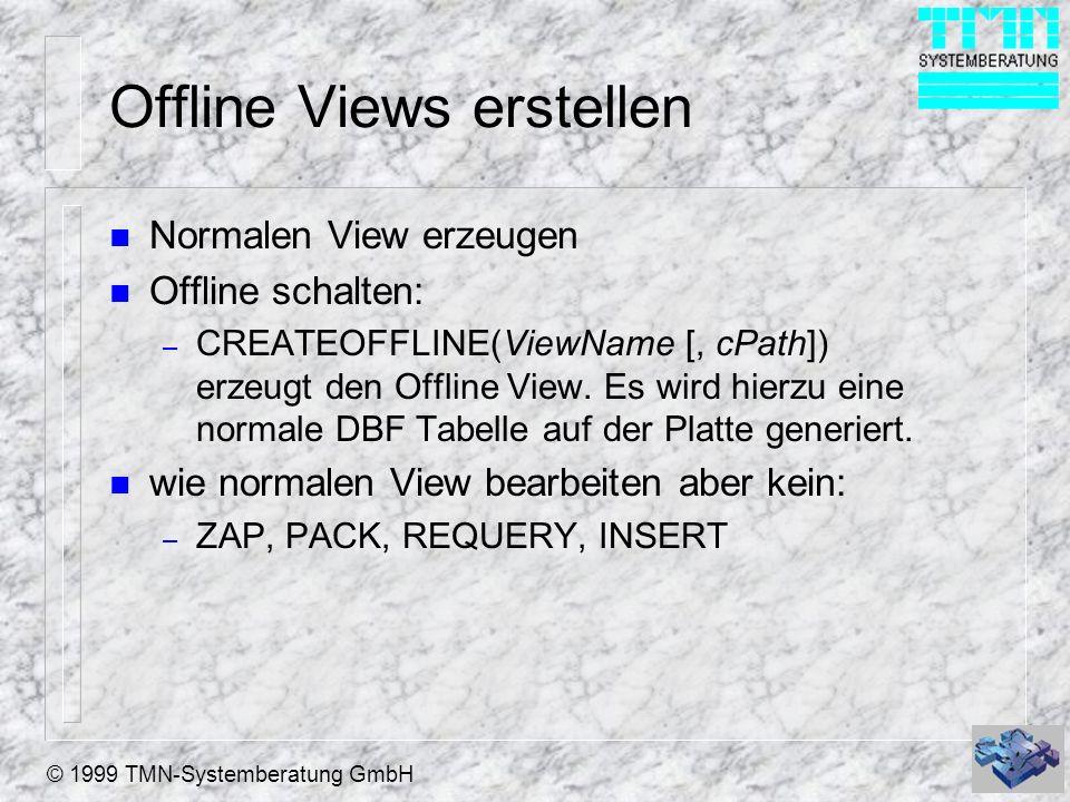 Offline Views erstellen