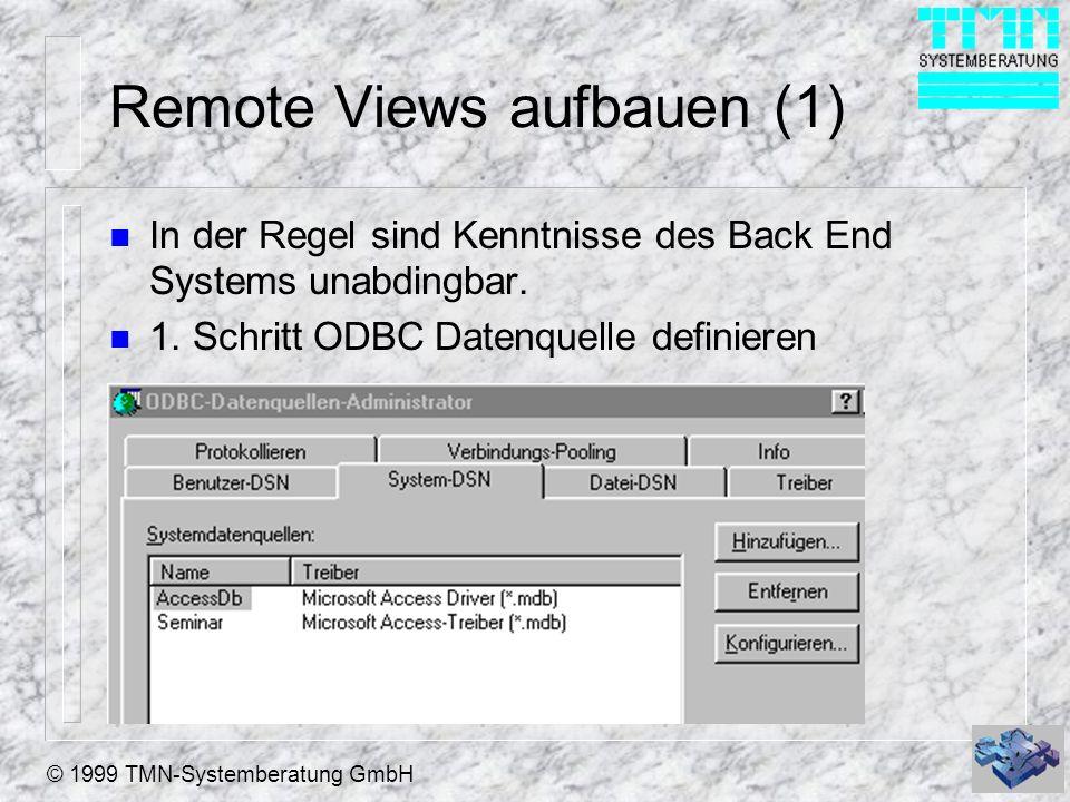 Remote Views aufbauen (1)