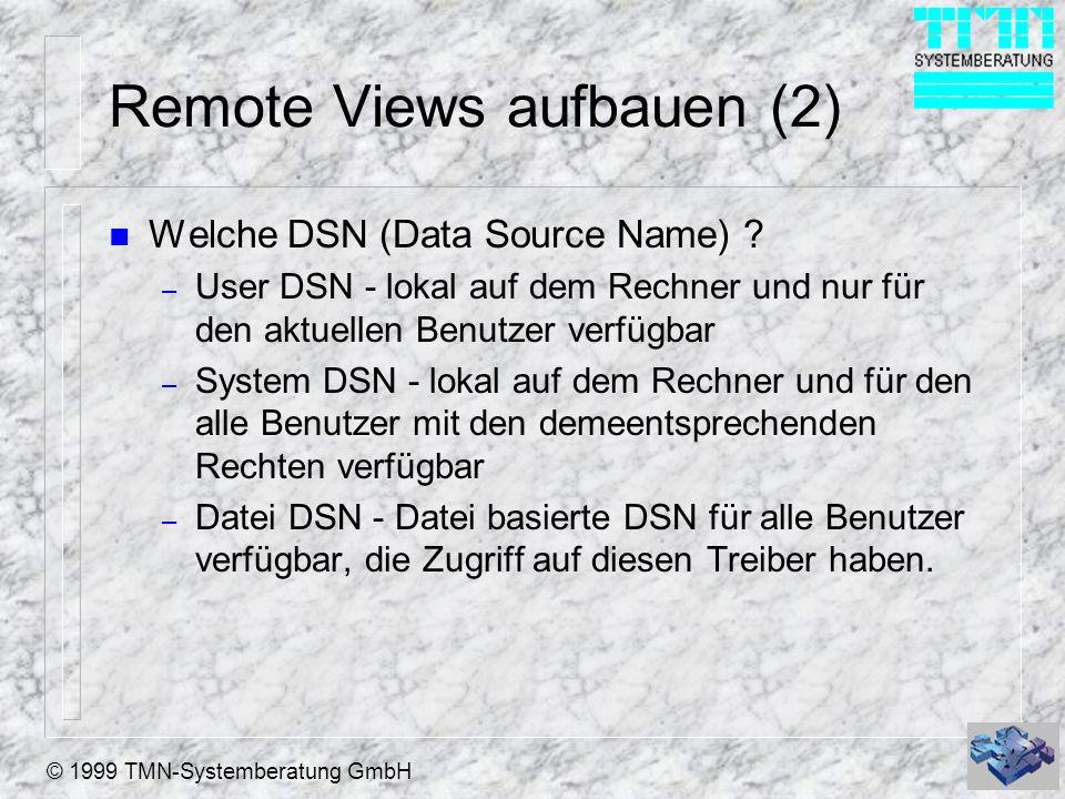 Remote Views aufbauen (2)