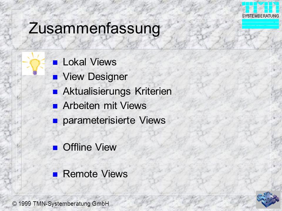 Zusammenfassung Lokal Views View Designer Aktualisierungs Kriterien