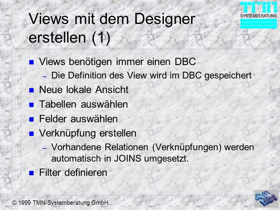 Views mit dem Designer erstellen (1)
