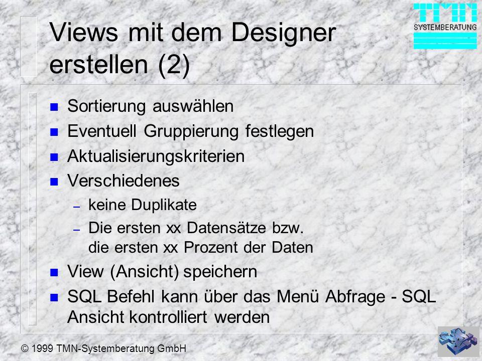Views mit dem Designer erstellen (2)