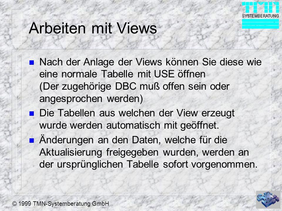 Arbeiten mit Views