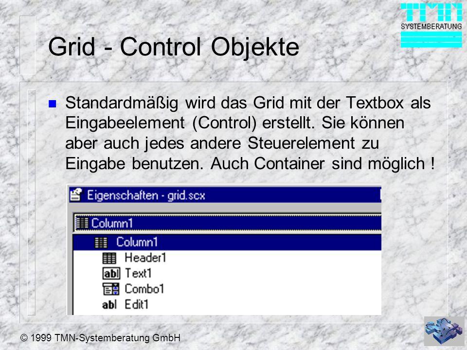 Grid - Control Objekte